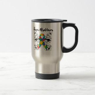 Autism Hope Matters Stainless Steel Travel Mug