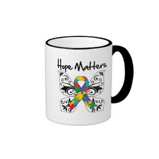 Autism Hope Matters Ringer Mug