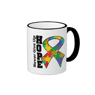 Autism Hope Never Give Up Coffee Mug