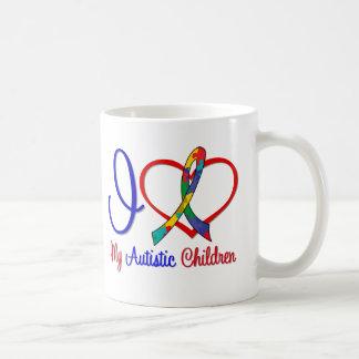 Autism I Love My Autistic Children Basic White Mug