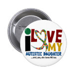 AUTISM I Love My Autistic Daughter 2 Badges