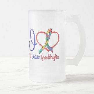 Autism I Love My Autistic Granddaughter Mugs
