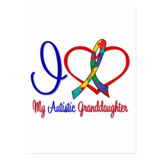 Autism I Love My Autistic Granddaughter Postcard