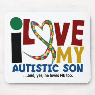 AUTISM I Love My Autistic Son 2 Mouse Mat