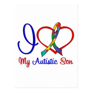 Autism I Love My Autistic Son Postcard