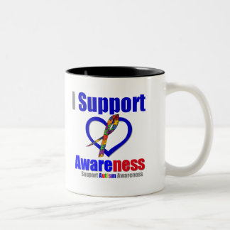 Autism I Support Awareness Coffee Mugs