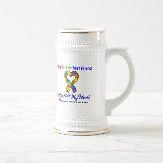 Autism: I Support My Best Friend With All My Heart Mug