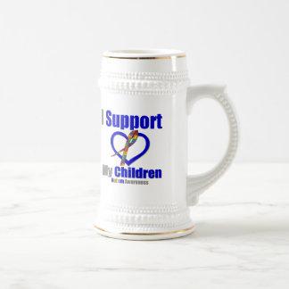 Autism I Support My Children Beer Steins