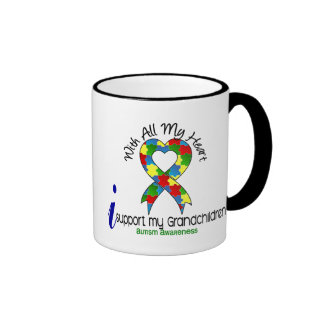 Autism I Support My Grandchildren Coffee Mugs