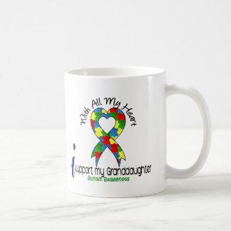 Autism I Support My Granddaughter Basic White Mug