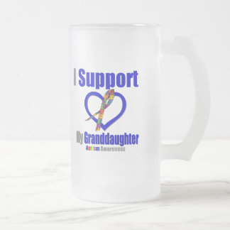 Autism I Support My Granddaughter Mugs