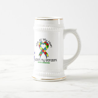 Autism I Support My Grandsons Coffee Mug