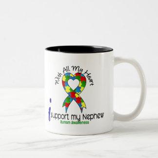 Autism I Support My Nephew Mugs