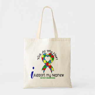 Autism I Support My Nephew Tote Bag