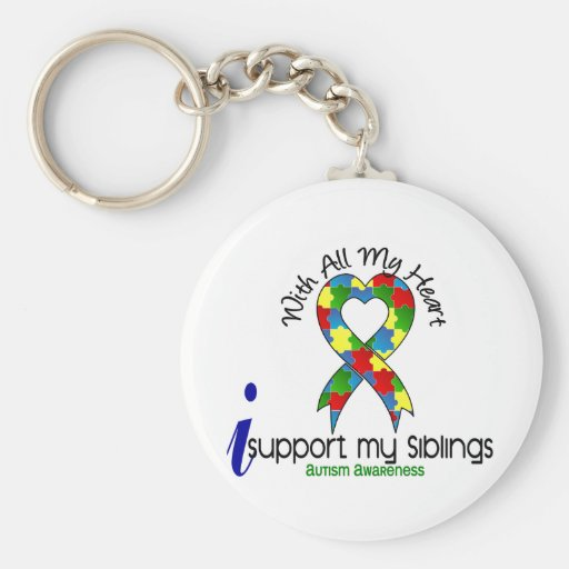 Autism I Support My Siblings Key Chain
