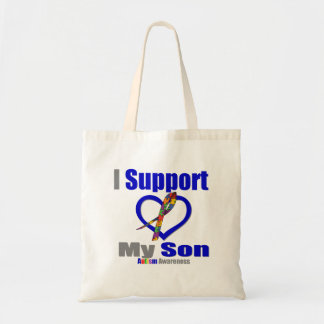 Autism I Support My Son Bags