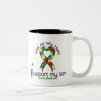 Autism I Support My Son Coffee Mug