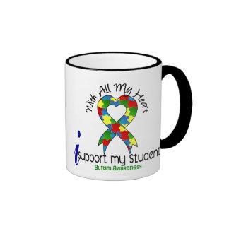 Autism I Support My Students Ringer Mug