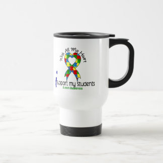 Autism I Support My Students Stainless Steel Travel Mug