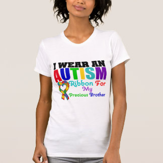 Autism I Wear Ribbon For My Precious Brother Tees
