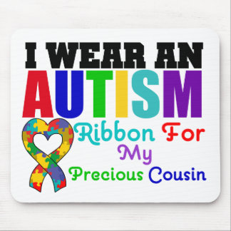 Autism I Wear Ribbon For My Precious Cousin Mouse Mat