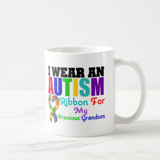 Autism I Wear Ribbon For My Precious Grandson Mug
