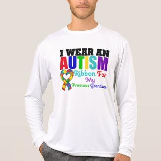 Autism I Wear Ribbon For My Precious Grandson Shirt