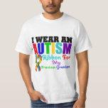 Autism I Wear Ribbon For My Precious Grandson T-shirt