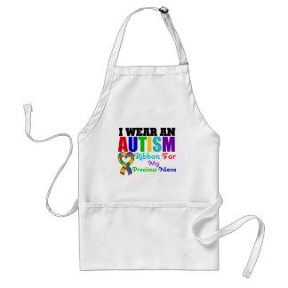 Autism I Wear Ribbon For My Precious Niece Adult Apron
