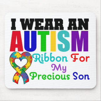 Autism I Wear Ribbon For My Precious Son Mouse Mats