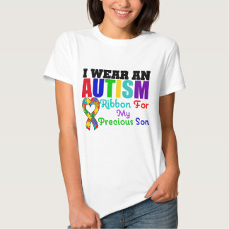 Autism I Wear Ribbon For My Precious Son T-shirts