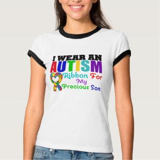 Autism I Wear Ribbon For My Precious Son Tshirts