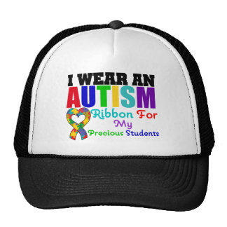 Autism I Wear Ribbon For My Precious Students Cap