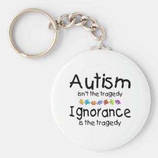 Autism Ignorance Basic Round Button Key Ring