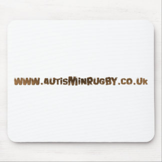 Autism in rugby products mouse mat