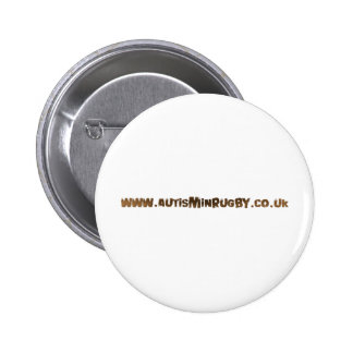 Autism in rugby products pinback button