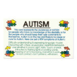 Autism Informant Double-Sided Standard Business Cards (Pack Of 100)
