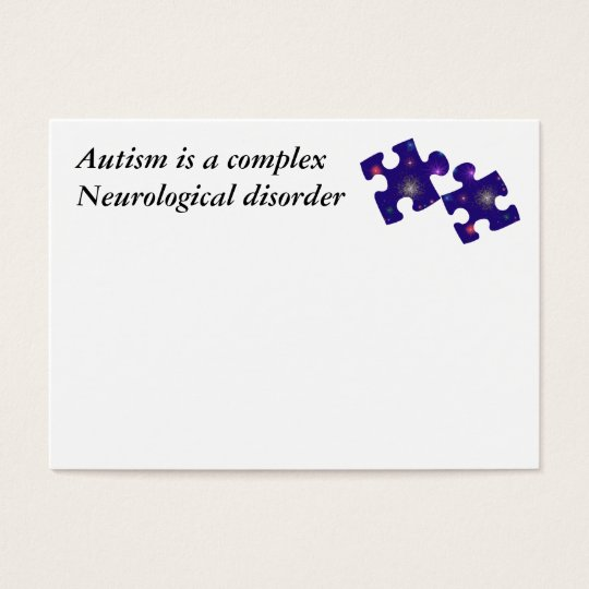 Autism Information Card- Customisable