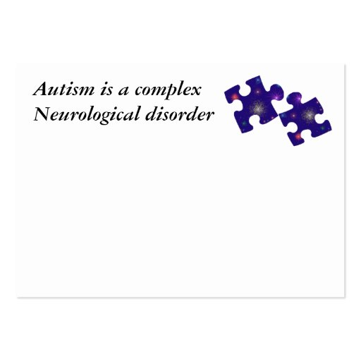 Autism Information Card- Customisable Pack Of Chubby Business Cards