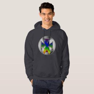 Autism Iron Cross Men's Hoodie