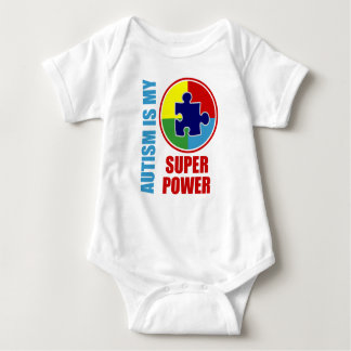 autism is my super power baby bodysuit