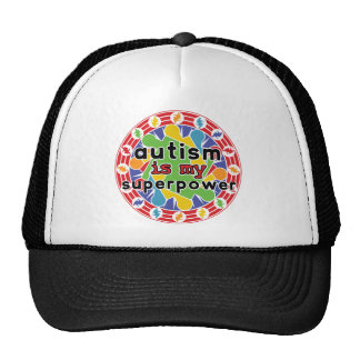 Autism is My Super Power Hats