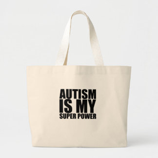 Autism Is My Super Power png Tote Bag