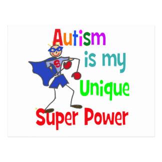 Autism is my unique super power postcard