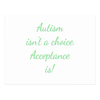 Autism isn't a choice. postcard