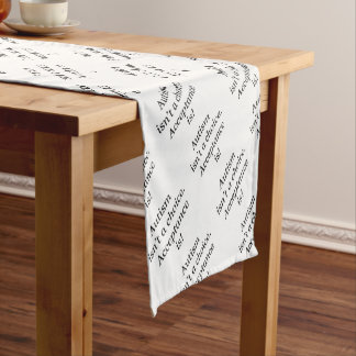 Autism isn't a choice... short table runner