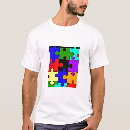 autism jigsaw puzzle piece adult t-shirt