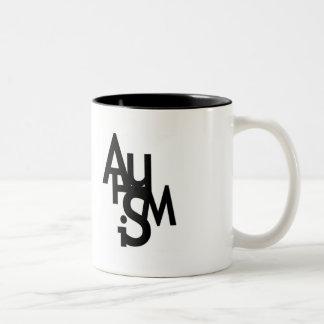 Autism (Jumbled Letters) Two-Tone Mug