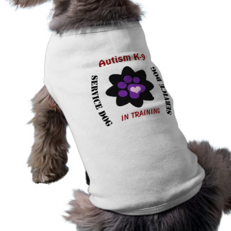 Autism K-9 Customizable Service Dog Sleeveless Dog Shirt