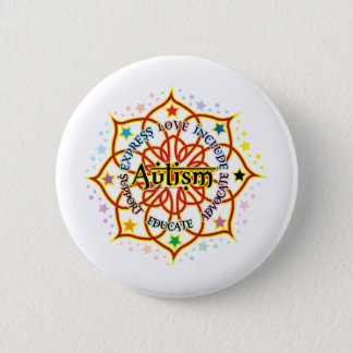 Autism Lotus 6 Cm Round Badge